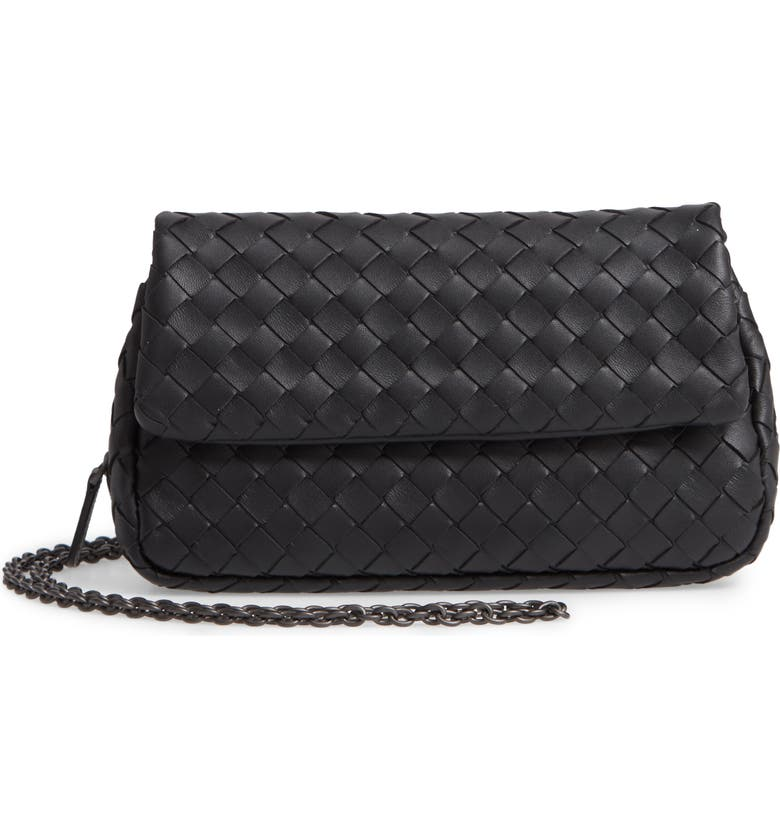 BOTTEGA VENETA Mini Leather Messenger Bag, Main, color, 067