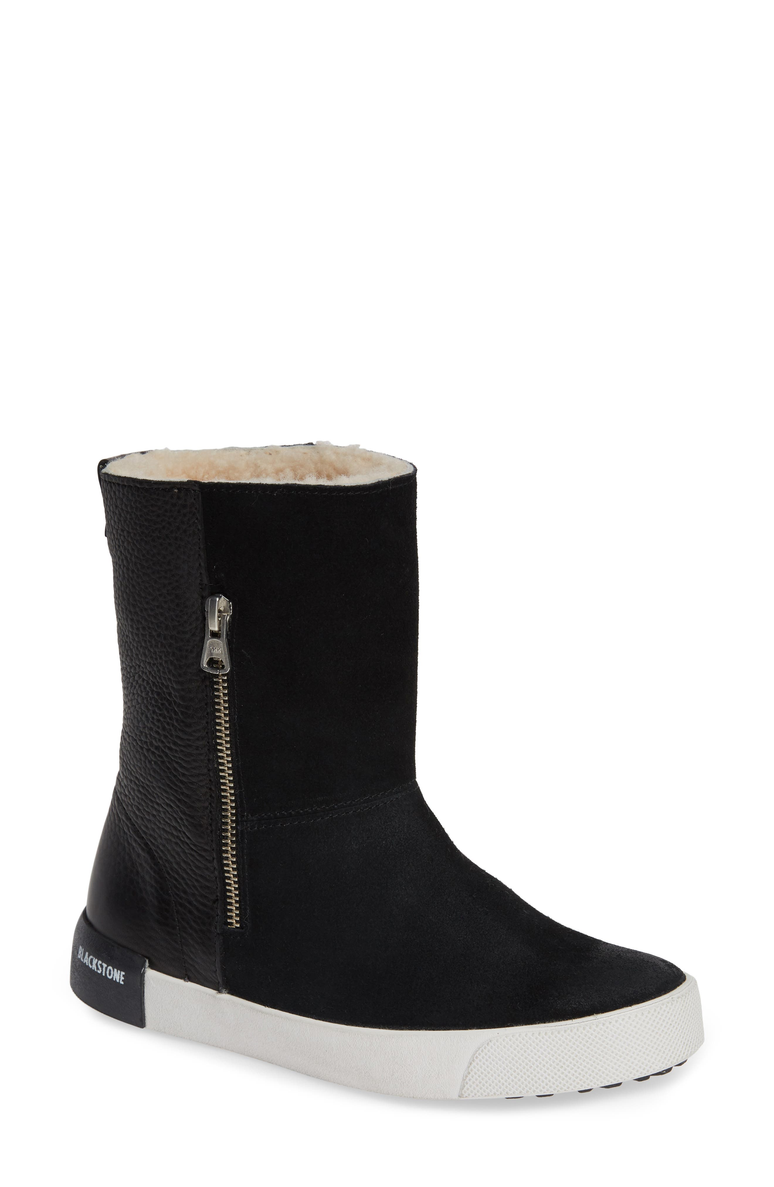 Blackstone Ql40 Genuine Shearling Lined Boot, Black