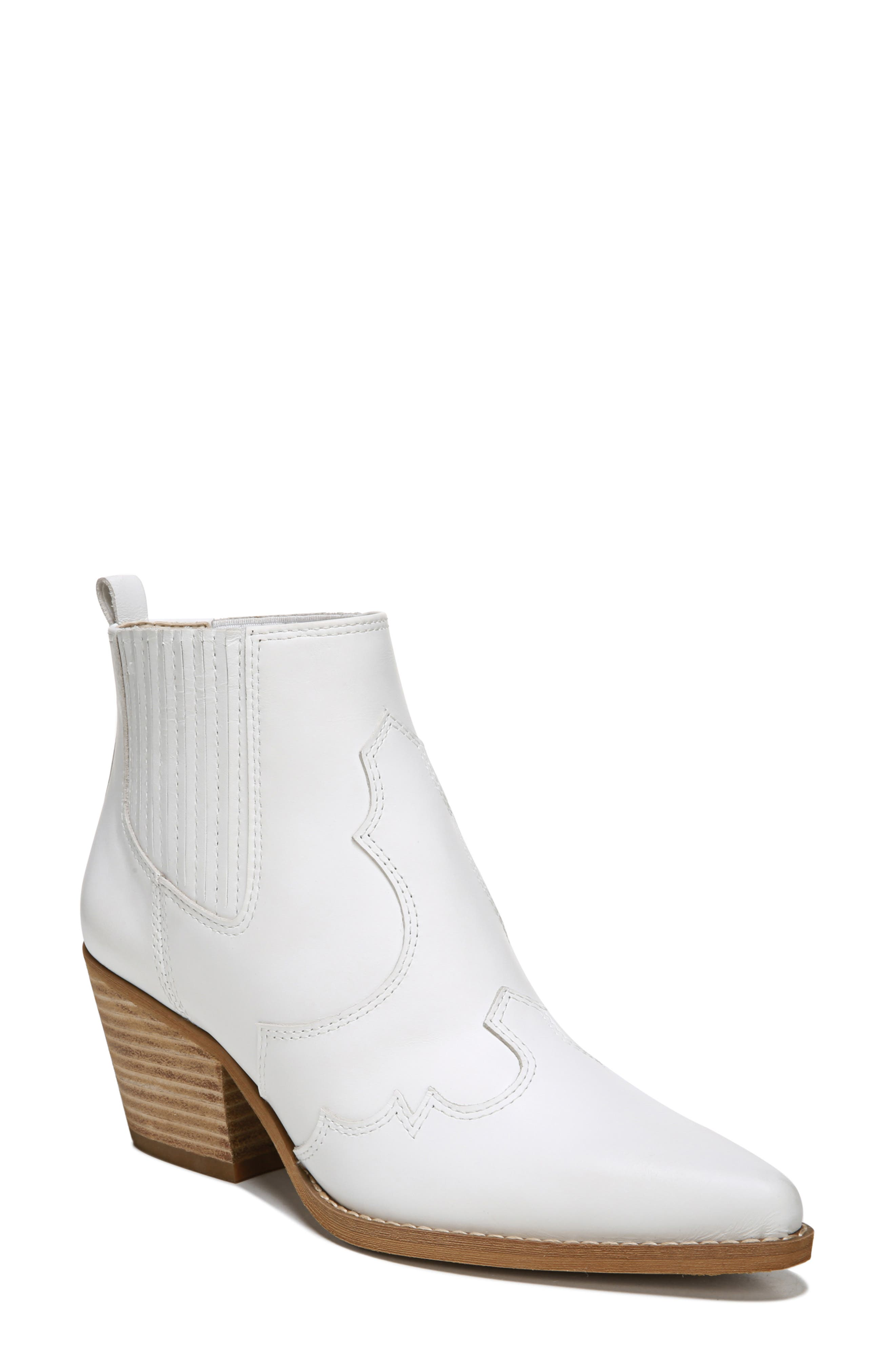 ,                             Winona Bootie,                             Main thumbnail 1, color,                             WHITE LEATHER