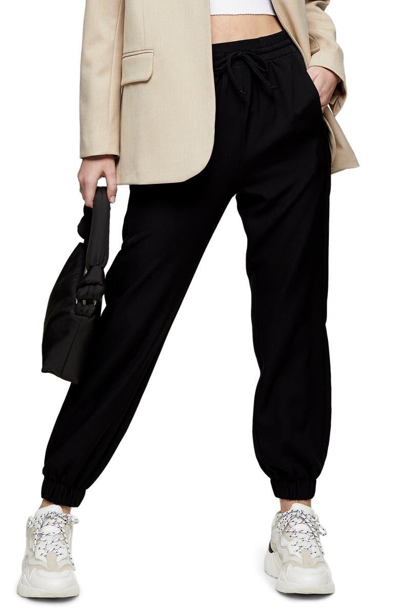 TOPSHOP Jogger Pants, Main, color, BLACK