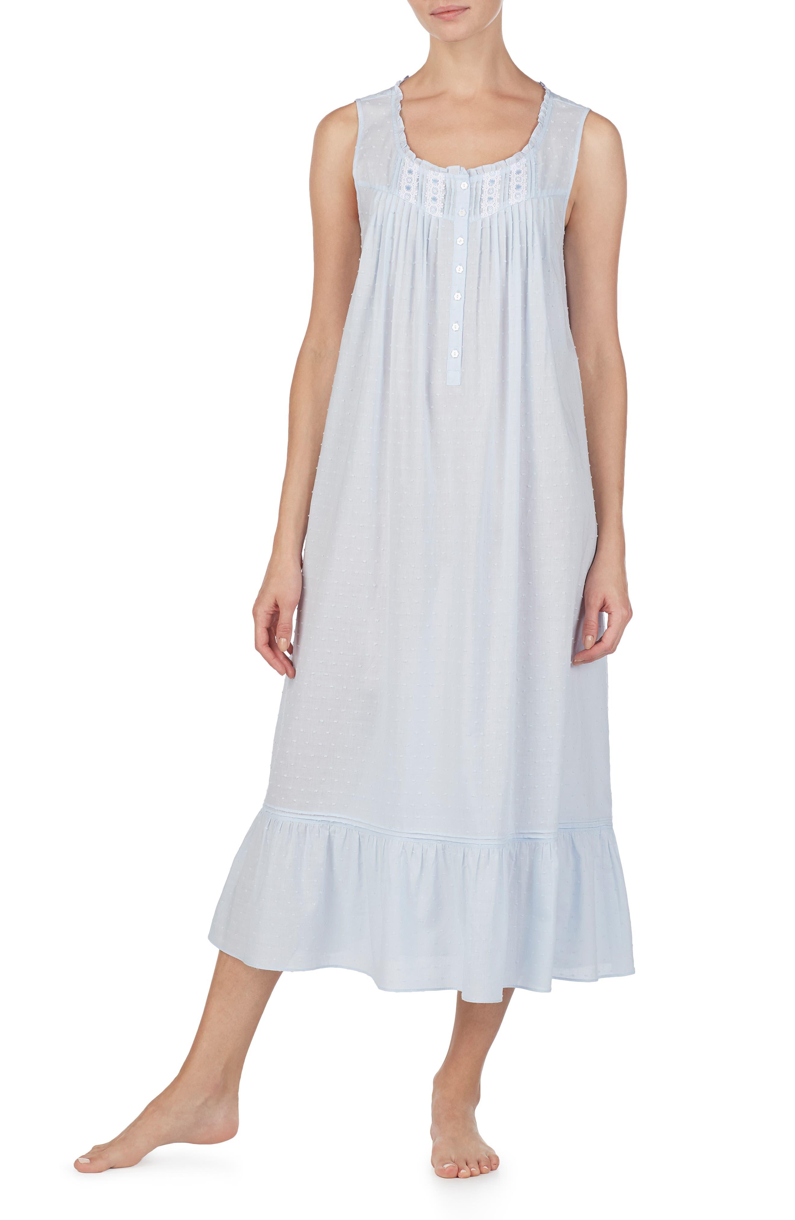 Eileen West Ballet Nightgown, Blue