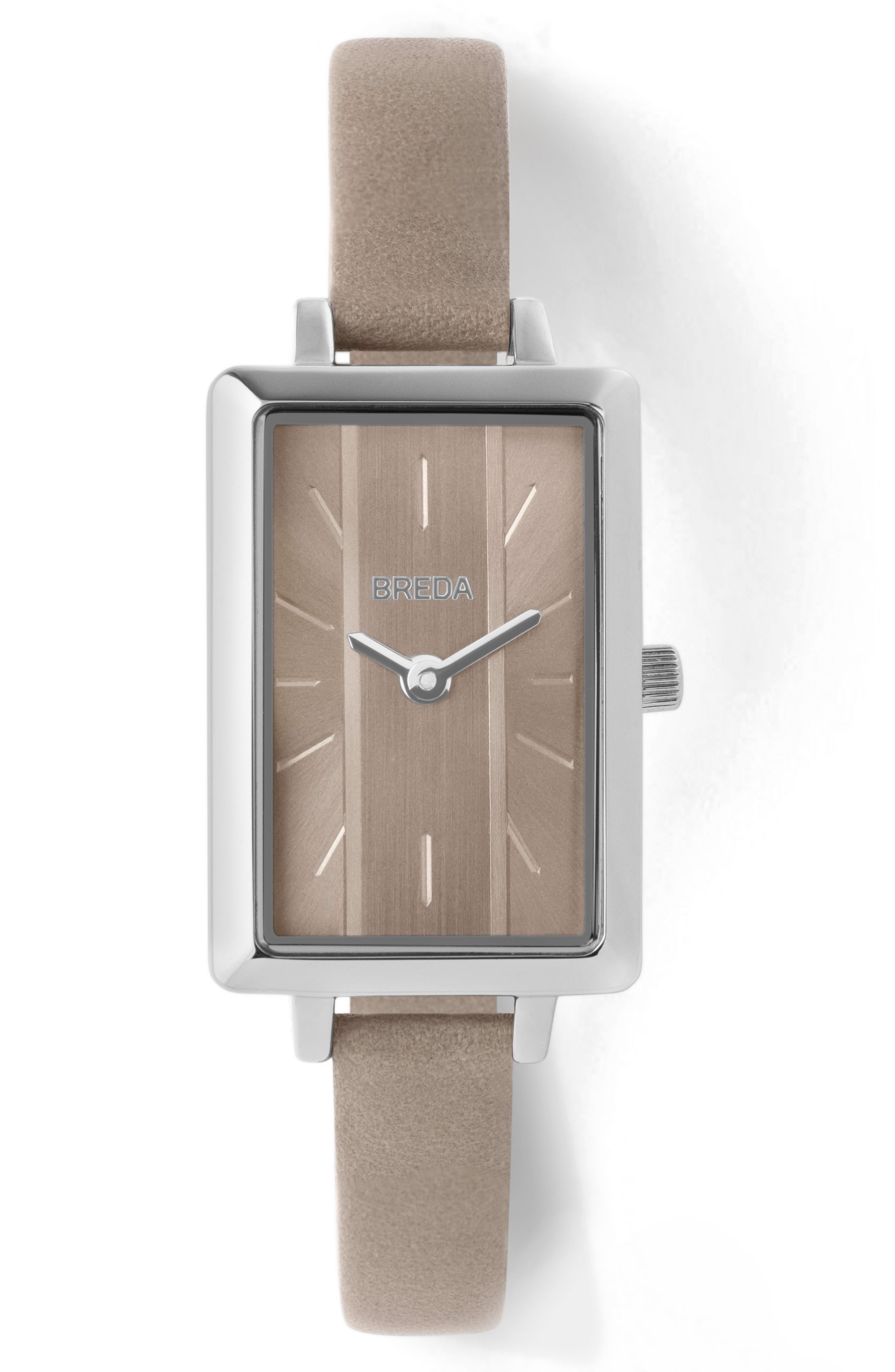 Eva Leather Strap Watch
