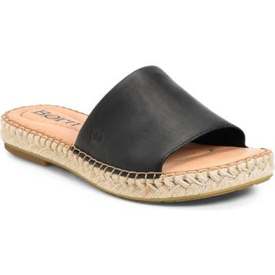 B?rn San Benito Espadrille Slide Sandal, Black