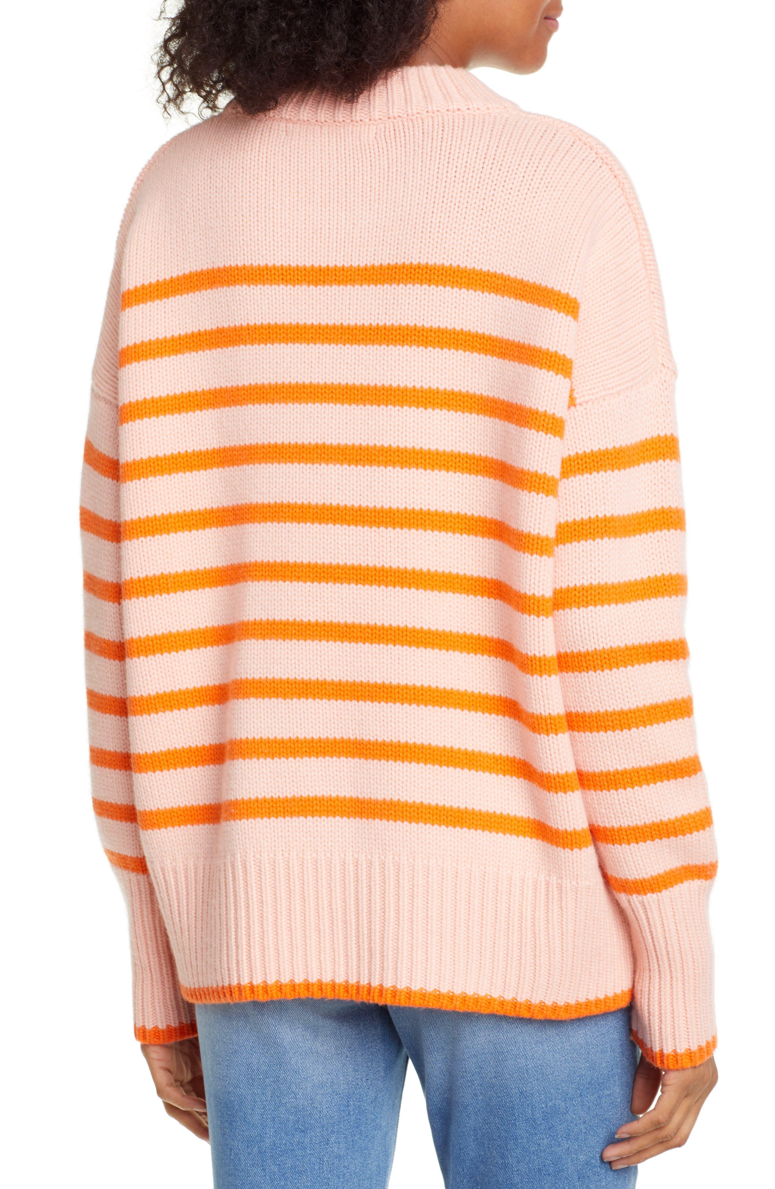 ,                             Marin Wool & Cashmere Sweater,                             Alternate thumbnail 2, color,                             PEACH/ ORANGE