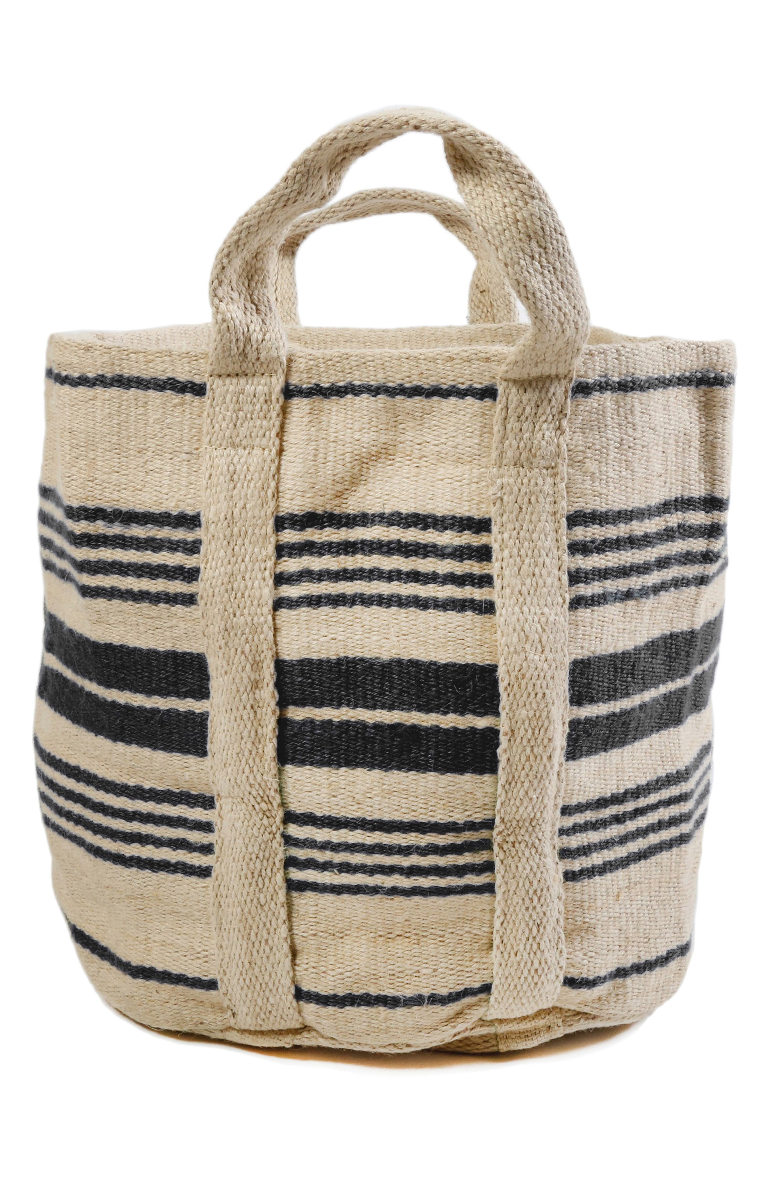 Savannah Handwoven Basket, Main, color, IVORY/ CHARCOAL