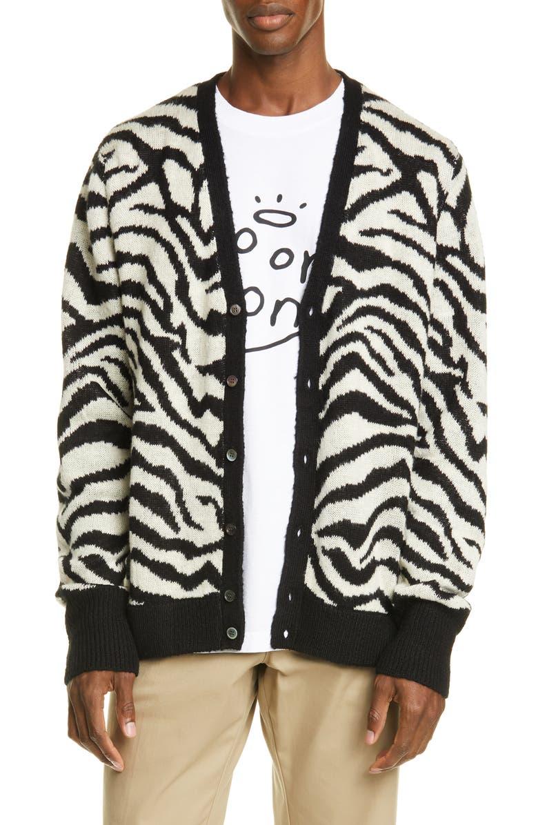 NOON GOONS Tiger Cardigan, Main, color, 001