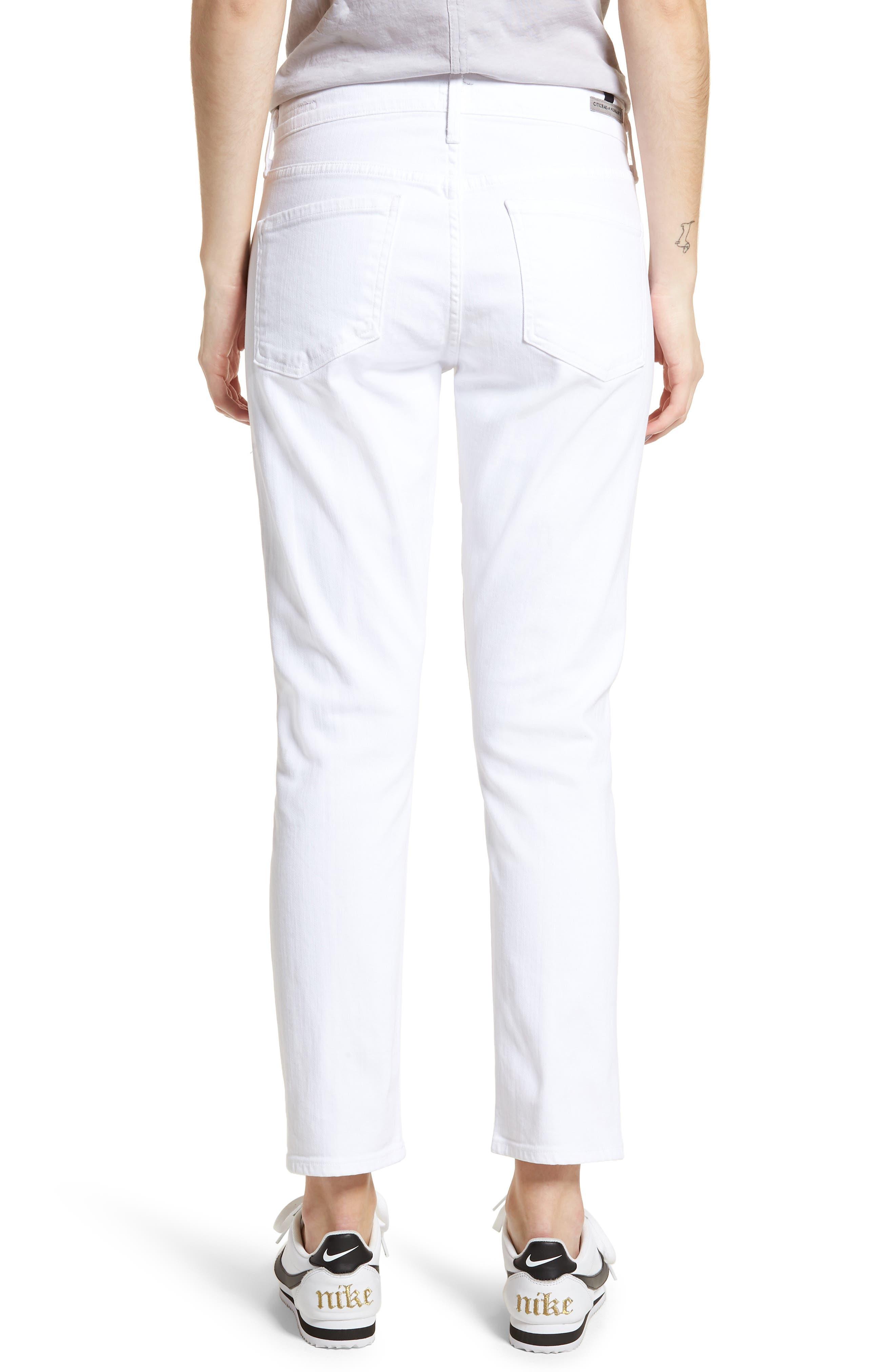 ,                             Elsa Crop Slim Jeans,                             Alternate thumbnail 2, color,                             OPTIC WHITE