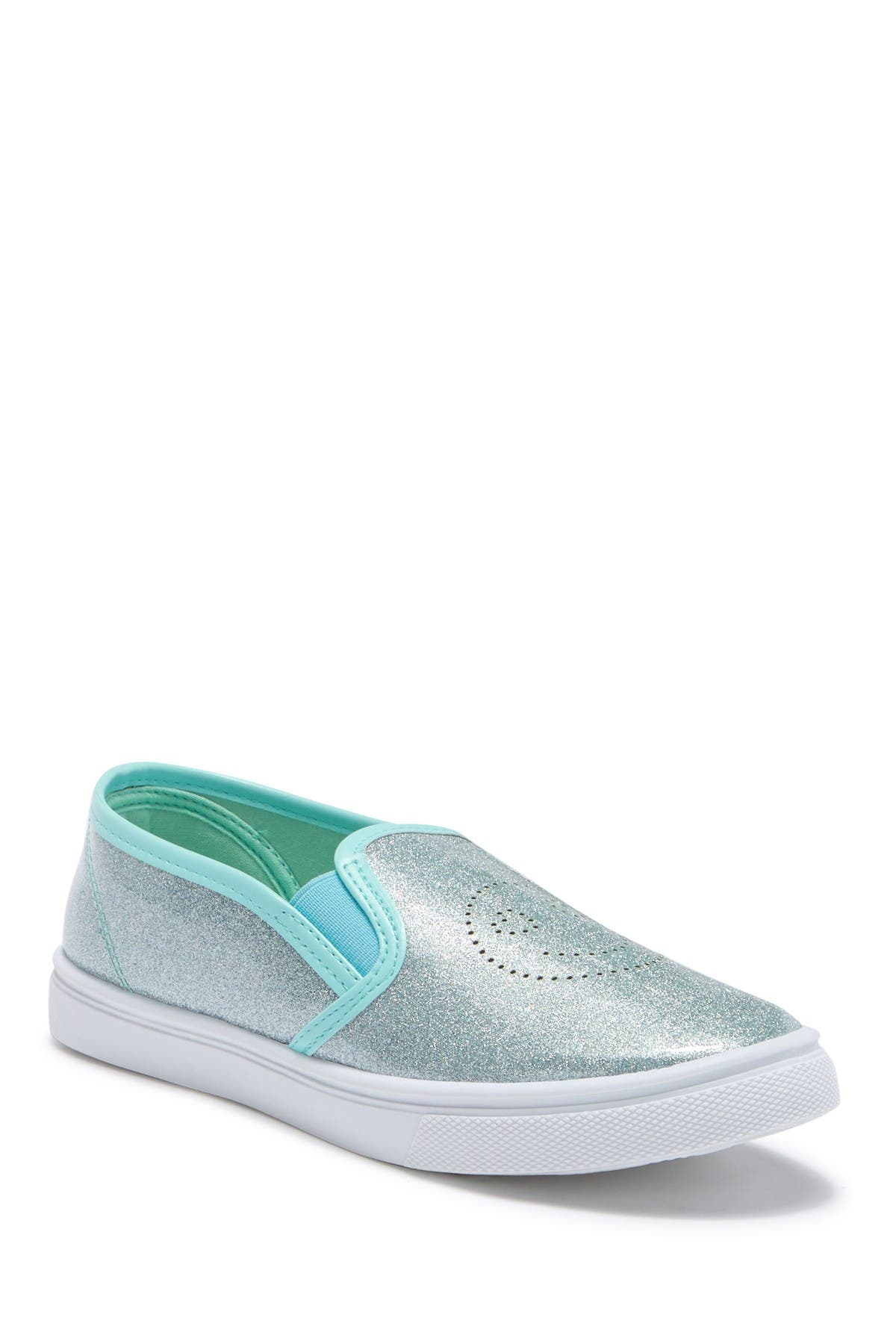 Image of OLIVIA MILLER Perforated Glitter Slip-On Sneaker