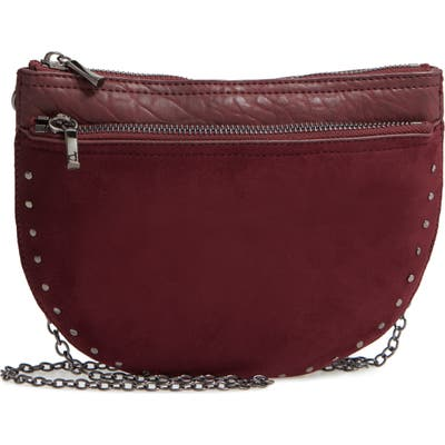Sole Society Jeana Studded Convertible Belt Bag - Burgundy