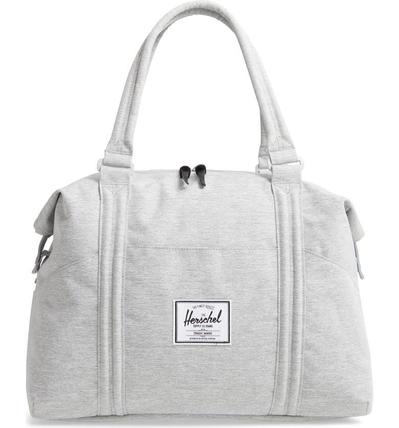 HERSCHEL SUPPLY CO. Strand Duffle Bag, Main, color, LIGHT GREY CROSSHATCH