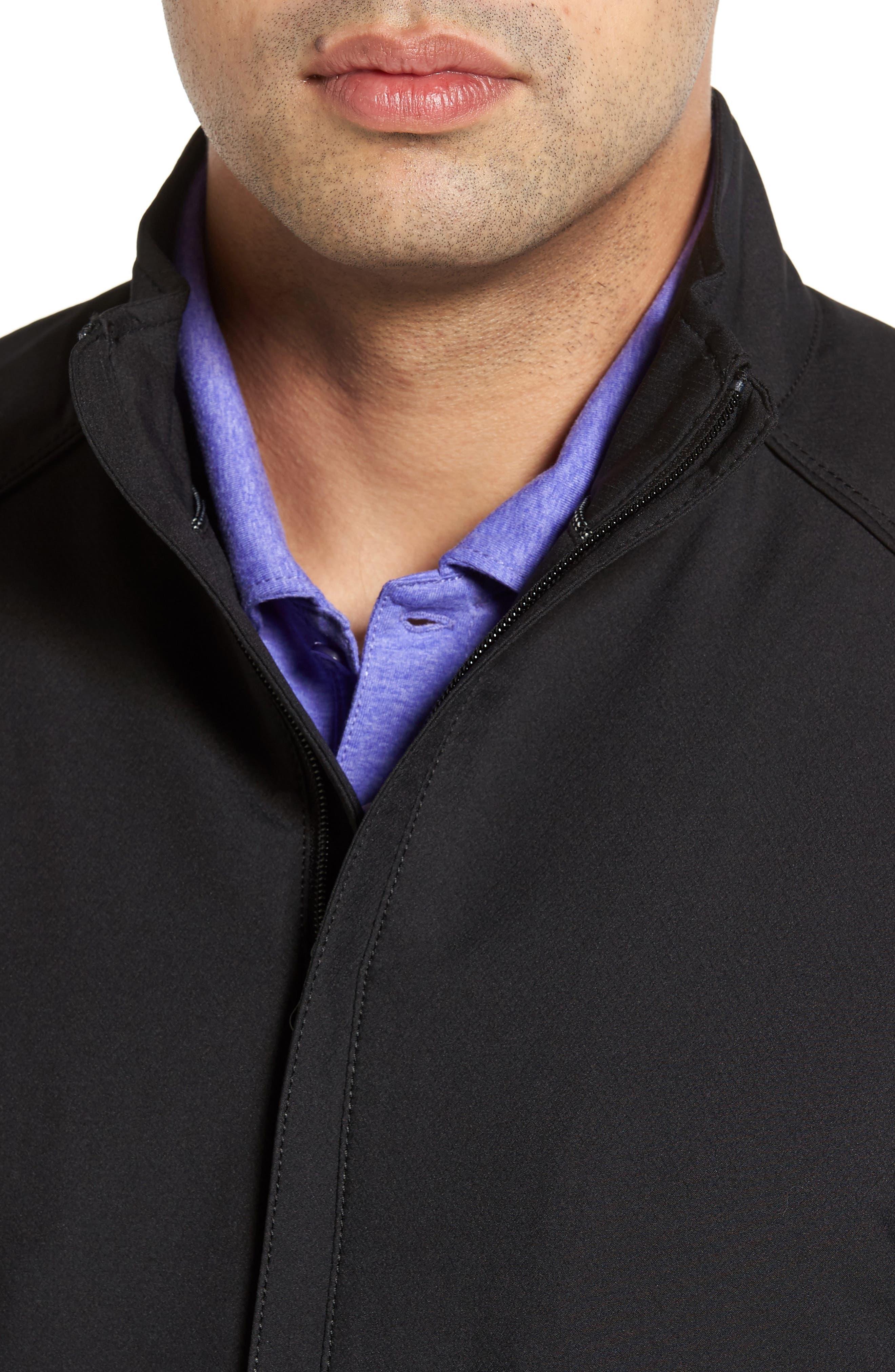 ,                             'Blakely' WeatherTec<sup>®</sup> Wind & Water Resistant Full Zip Jacket,                             Alternate thumbnail 4, color,                             BLACK
