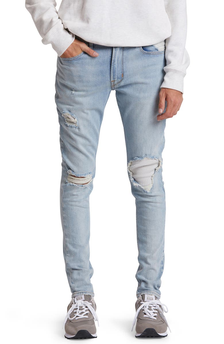 HUDSON JEANS Zack Ripped Skinny Fit Jeans, Main, color, 400