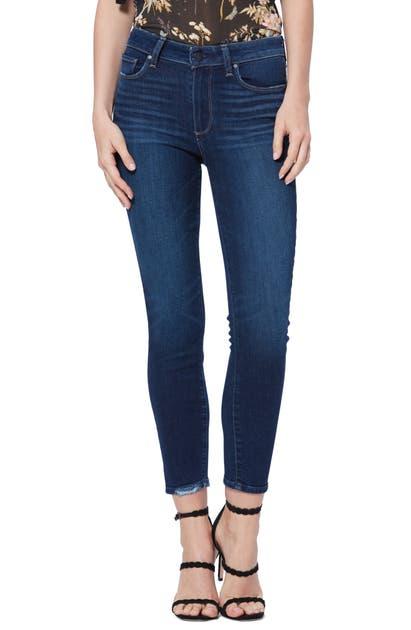 Paige Jeans HOXTON HIGH WAIST CROP SKINNY JEANS
