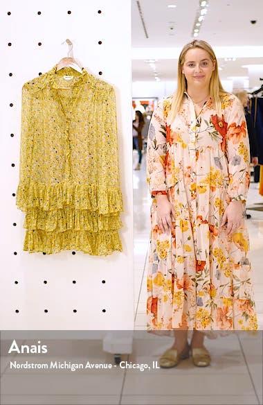 Rebbie Anemone Tiered Ruffle Long Sleeve Babydoll Dress, sales video thumbnail