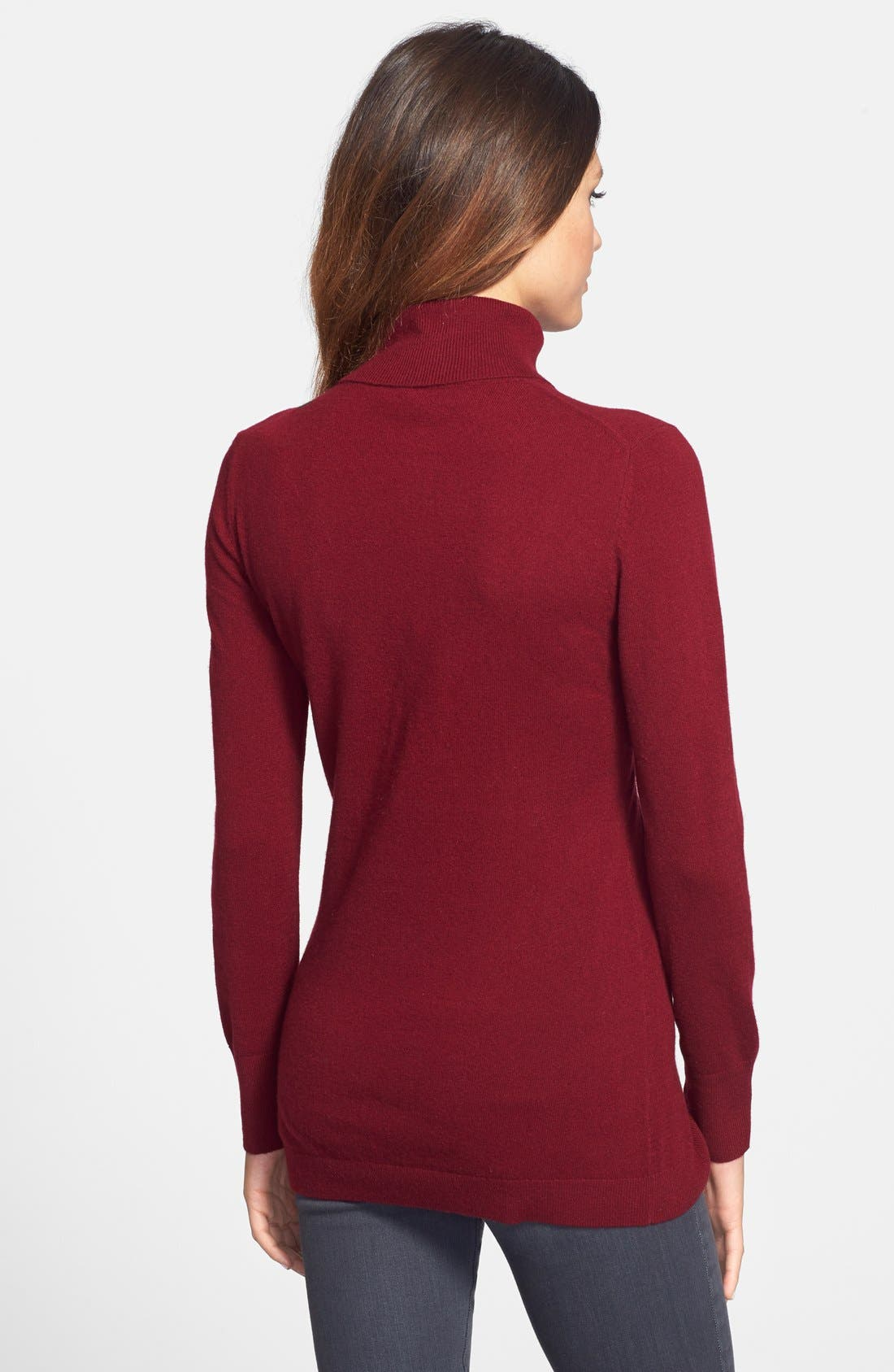 ,                             Long Cashmere Turtleneck Sweater,                             Alternate thumbnail 50, color,                             930