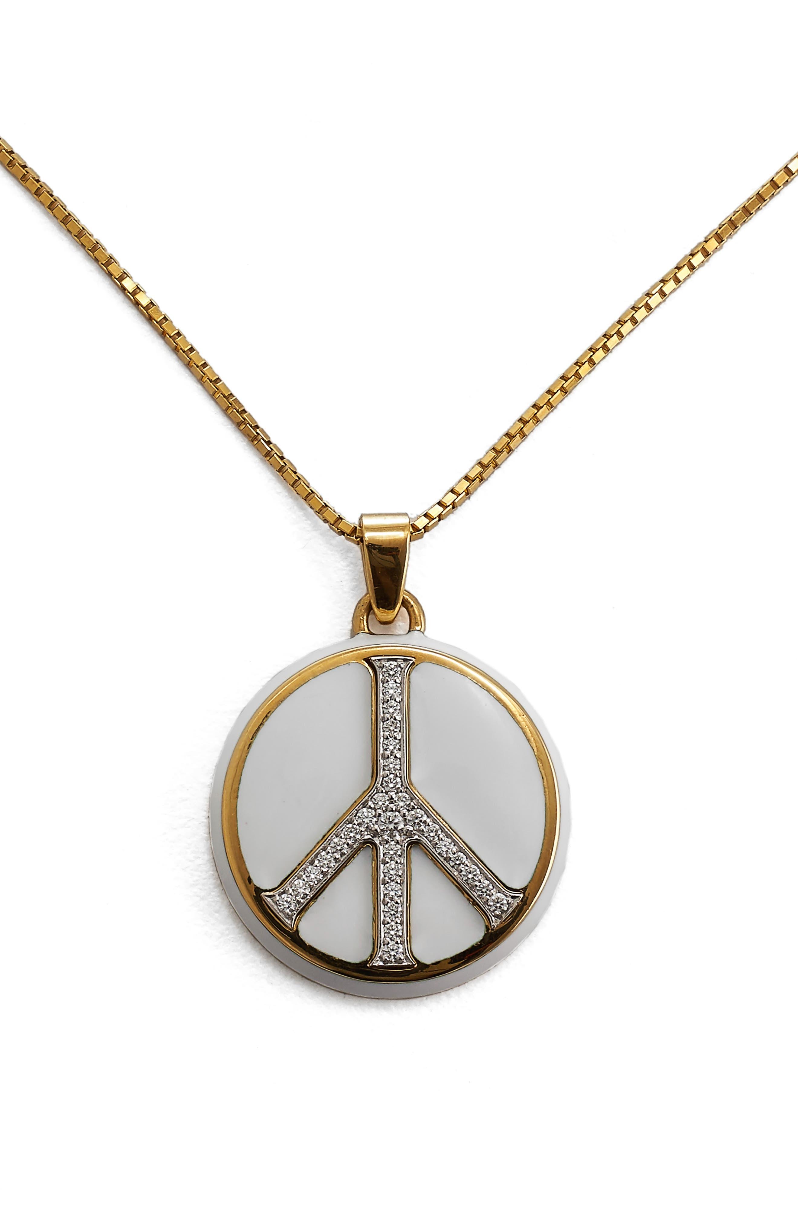 Motif Peace Pendant Necklace