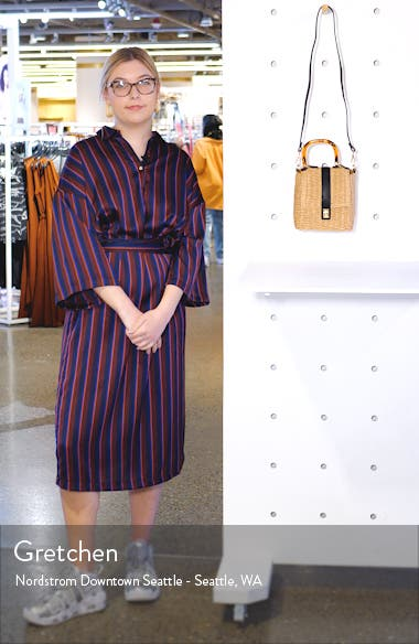Skyla Top Handle Straw Grab Bag, sales video thumbnail