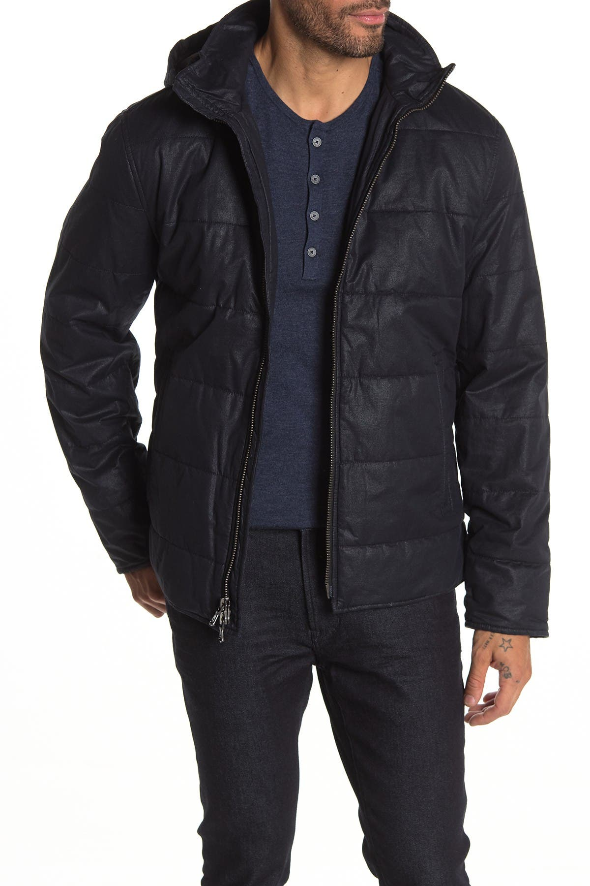 Image of John Varvatos Star USA Quilted Puffer Hooded Jacket