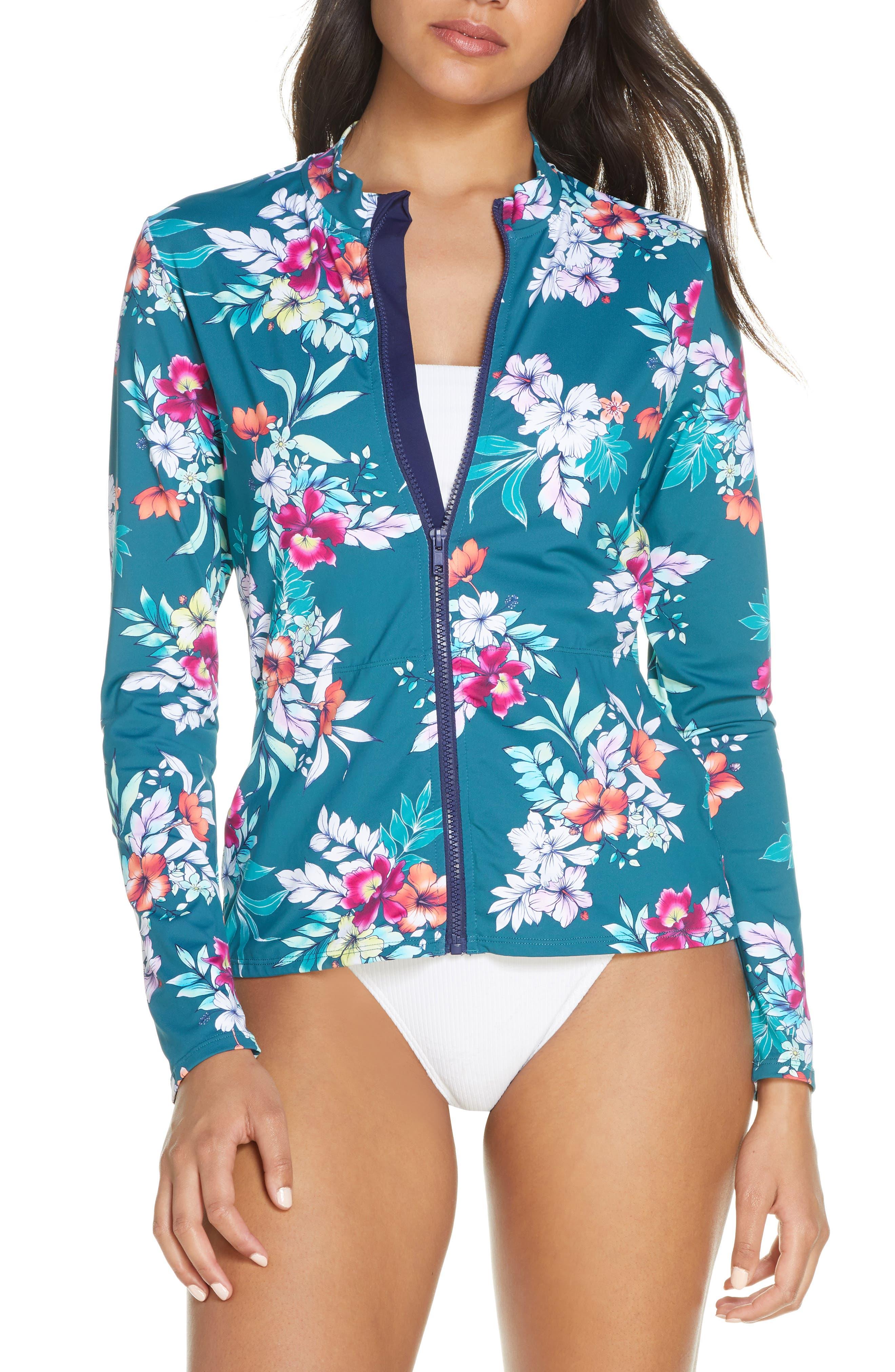 Image of Tommy Bahama Floral Springs Long Sleeve Rashguard