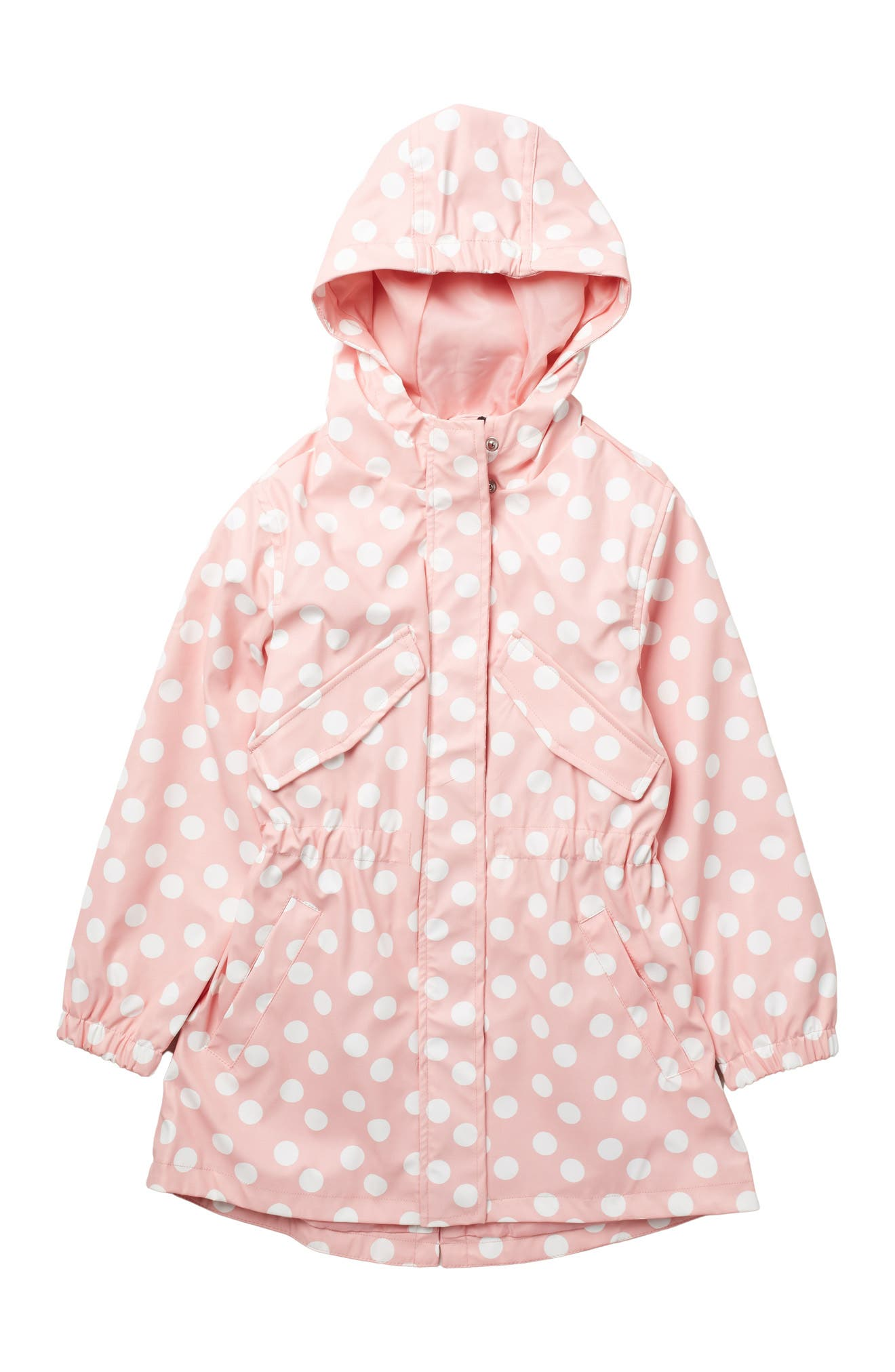 Image of Urban Republic Hooded Polka Dot Anorak Raincoat