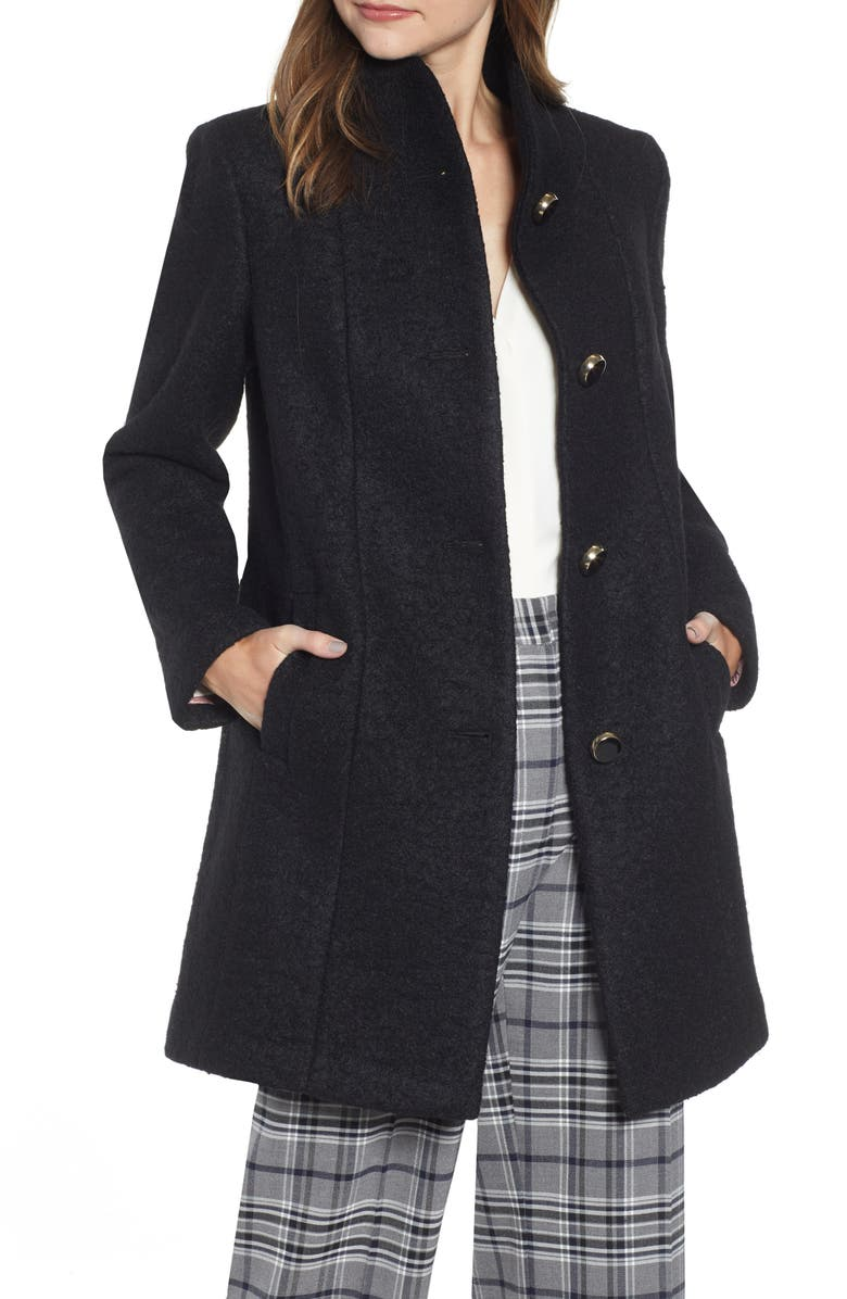 KATE SPADE NEW YORK wool blend coat, Main, color, 001