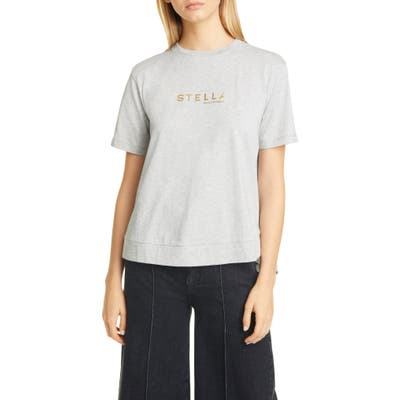 Stella Mccartney Logo Cotton Tee, 6 IT - Grey