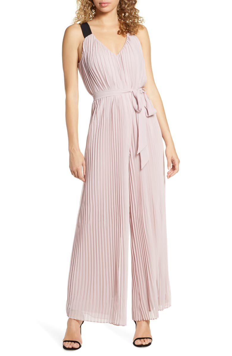 HARLYN Pleated Wide Leg Jumpsuit, Main, color, 530