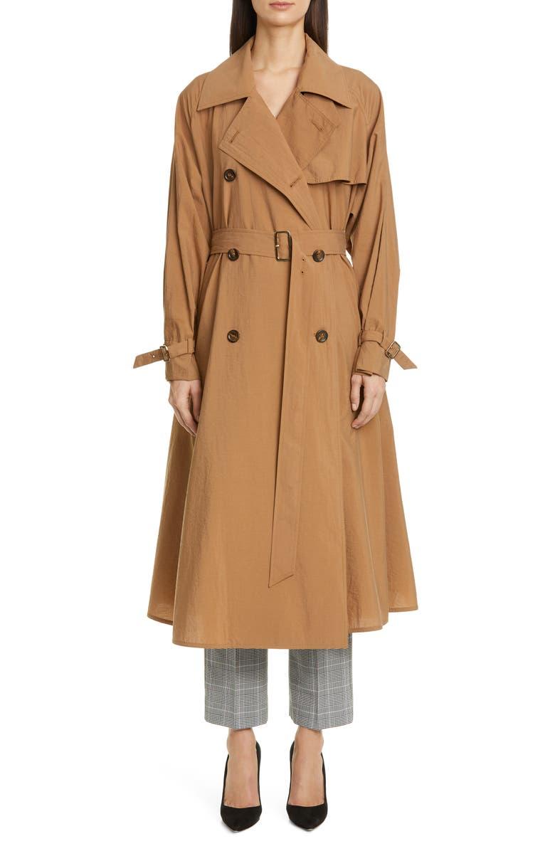 MAX MARA Falster Flared Trench Coat, Main, color, 210
