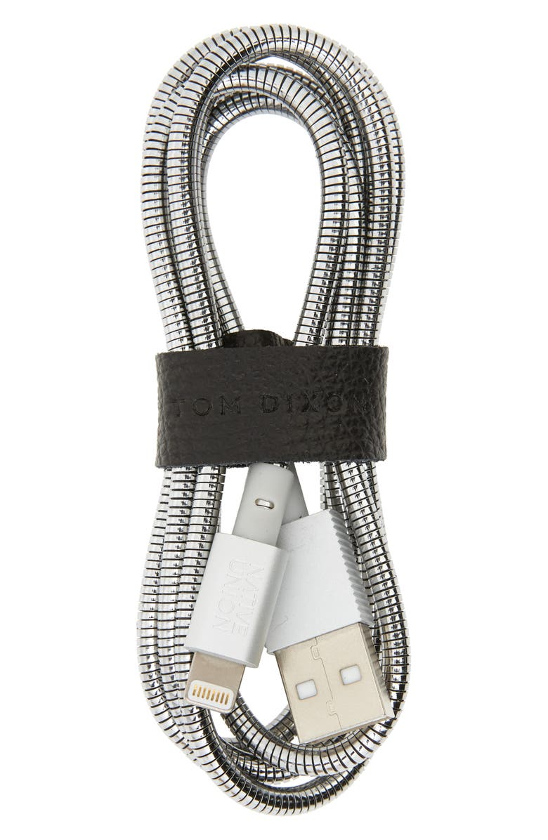 NATIVE UNION Coil Lightning to USB Charging Cable, Main, color, BRUSHED SILVER