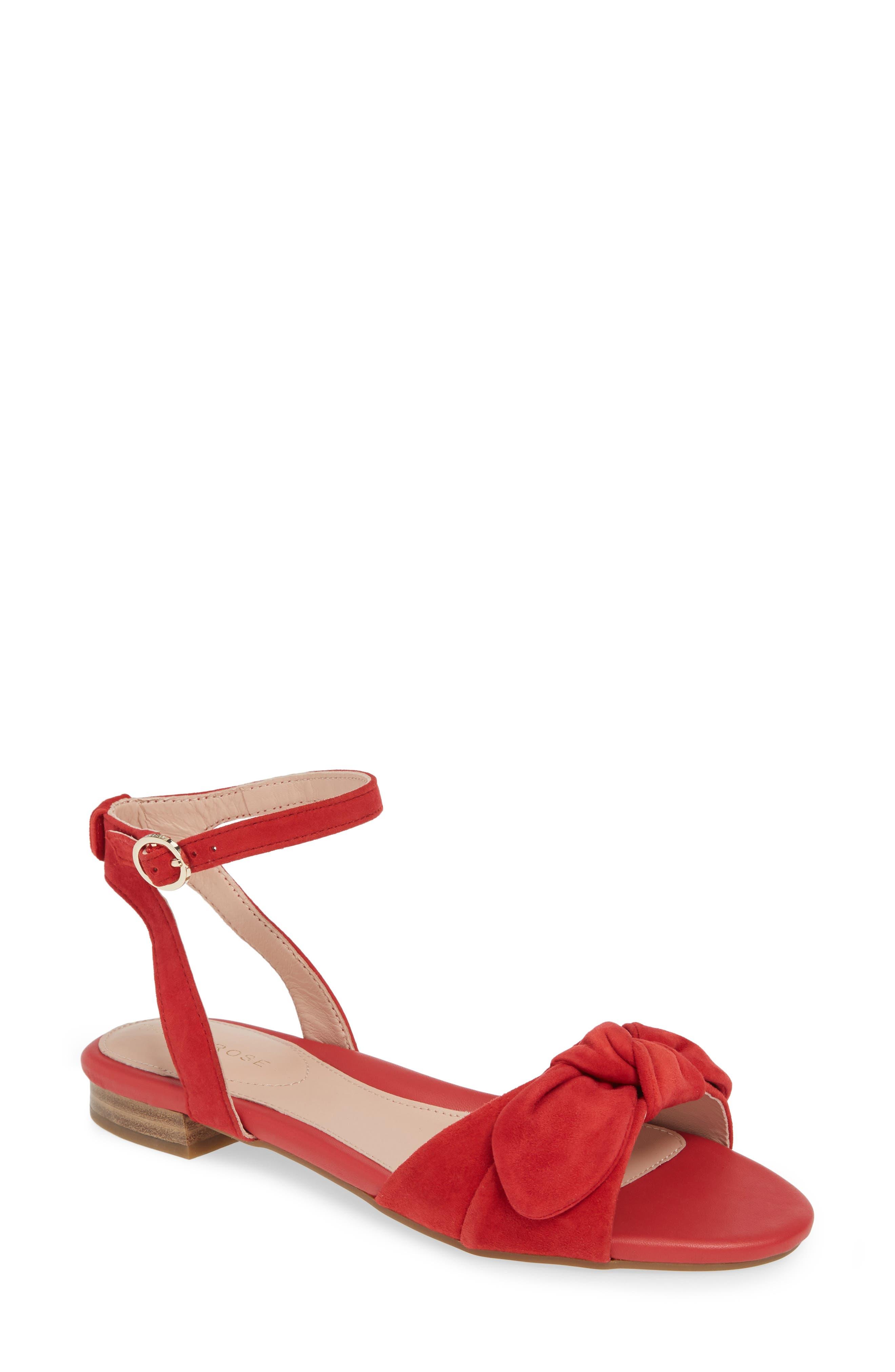Taryn Rose Vivian Ankle Strap Sandal, Red