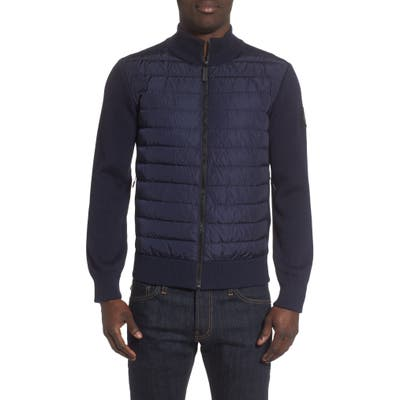 Canada Goose Hybridge Slim Fit Down Front Knit Jacket, Blue