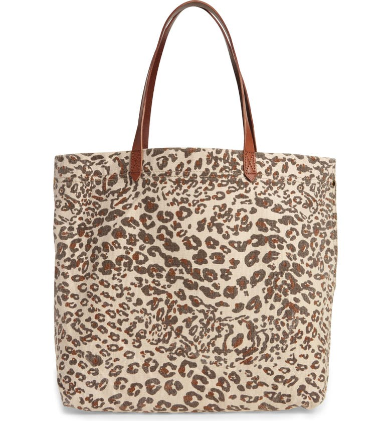 MADEWELL The Canvas Transport Tote: Print Edition, Main, color, ASHEN SAND