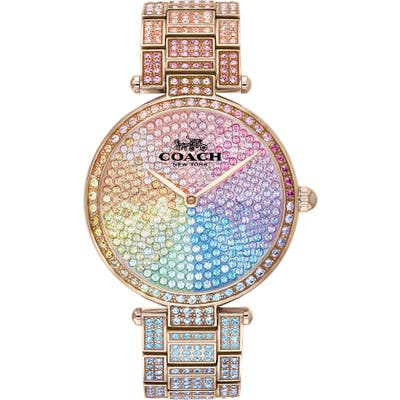 Coach Park Crystal Embellished Bracelet Watch,