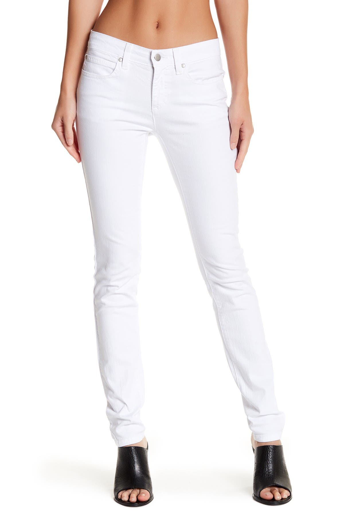 Image of Eileen Fisher Mid Rise Skinny Jeans