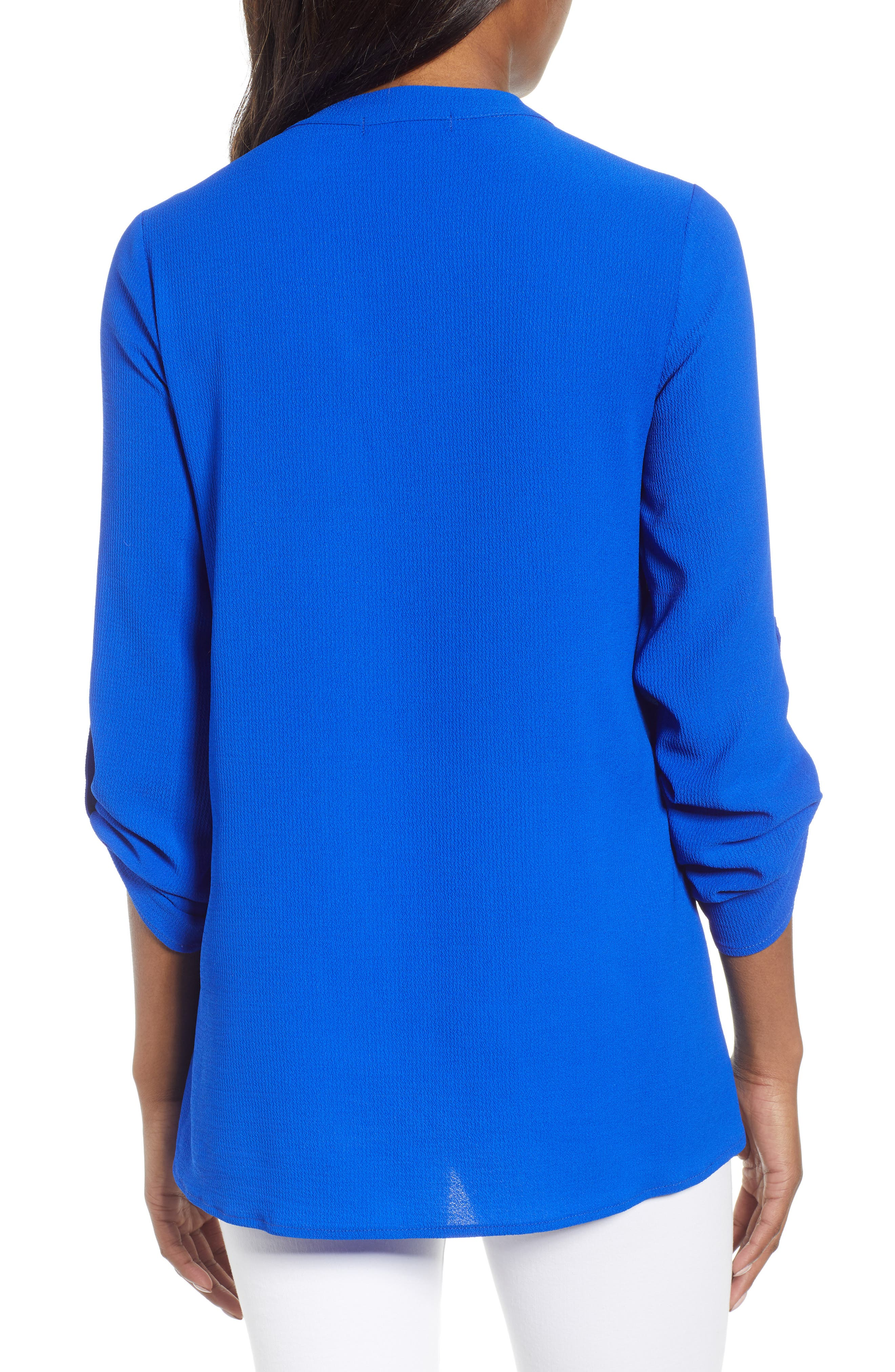 ,                             x International Women's Day Erin Cross Front Tunic Blouse,                             Alternate thumbnail 48, color,                             499