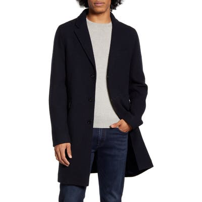 Wax London Brook Regular Fit Wool Blend Coat, Blue