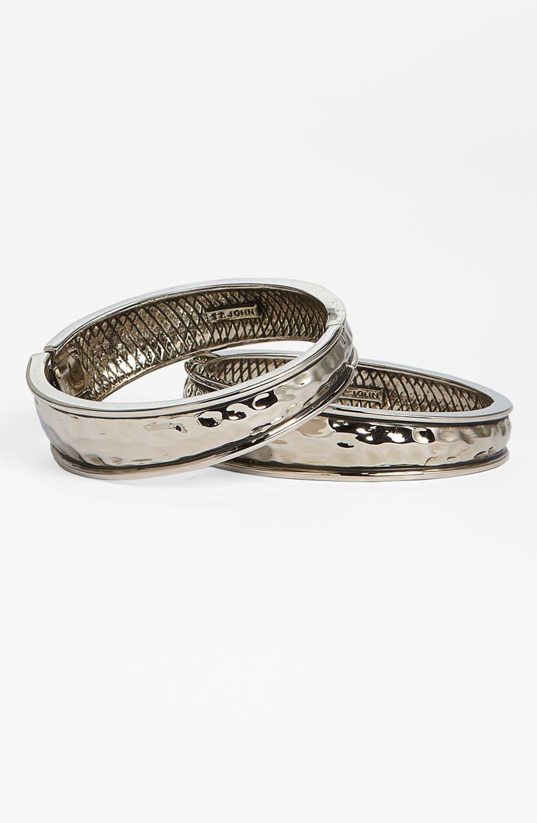 ST. JOHN COLLECTION Hammered Hinge Bracelet Set, Main, color, 710