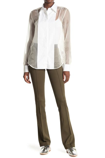 Image of Helmut Lang Double Needle Flare Leg Pants