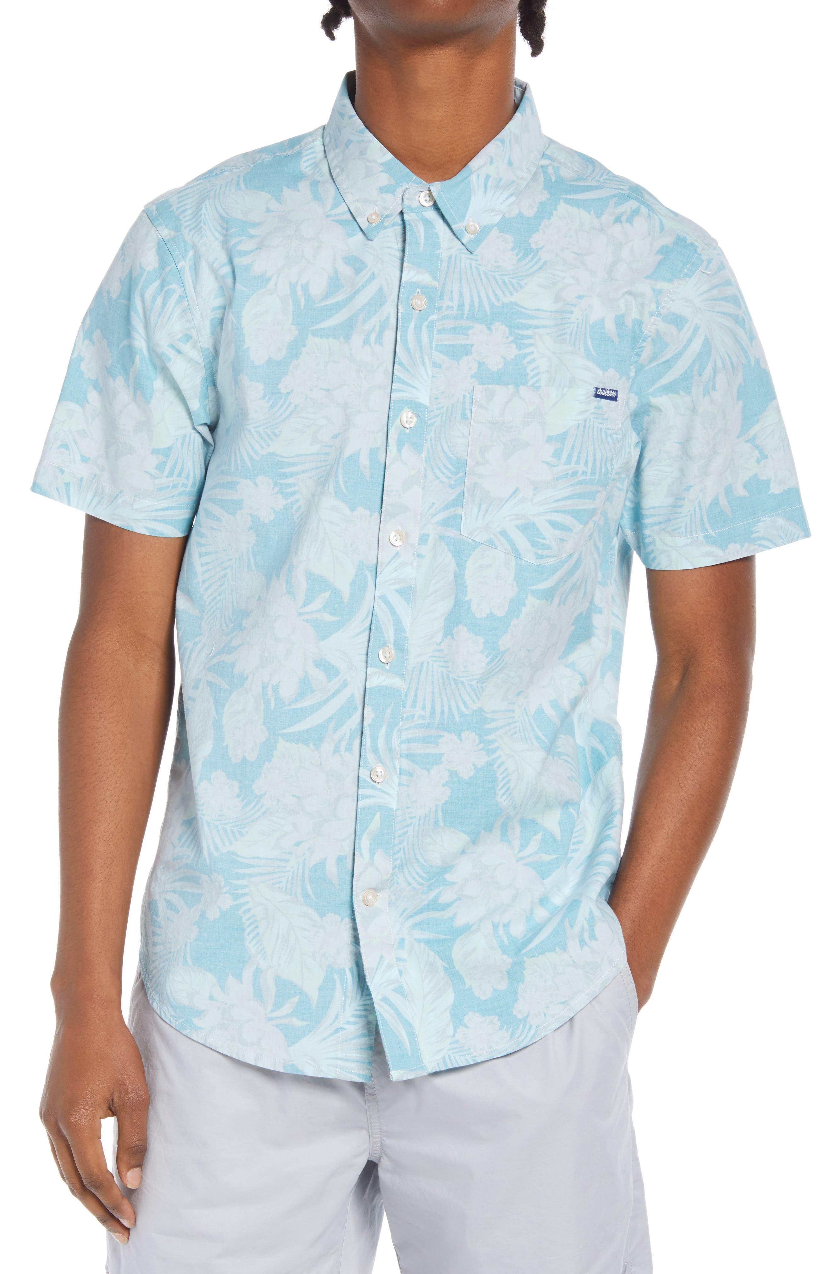 The Wanderer Floral Short Sleeve Button-Down Shirt
