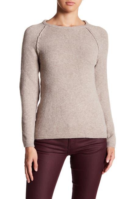 Image of Sweet Romeo Moto Exposed Sleeve Knit Sweater