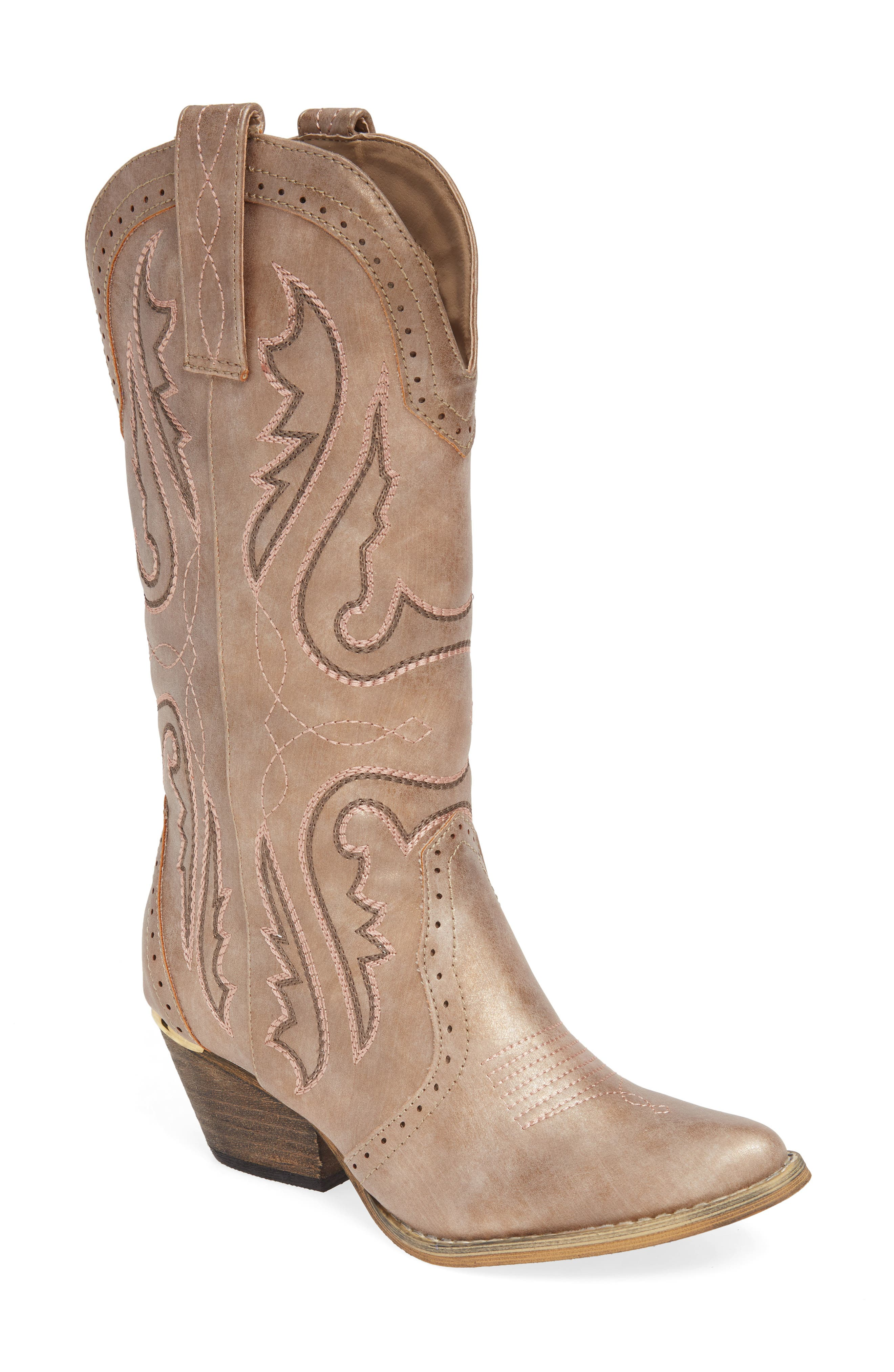 Very Volatile Buckboard Western Boot- Beige