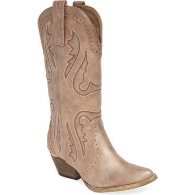 Very Volatile Buckboard Western Boot, Beige