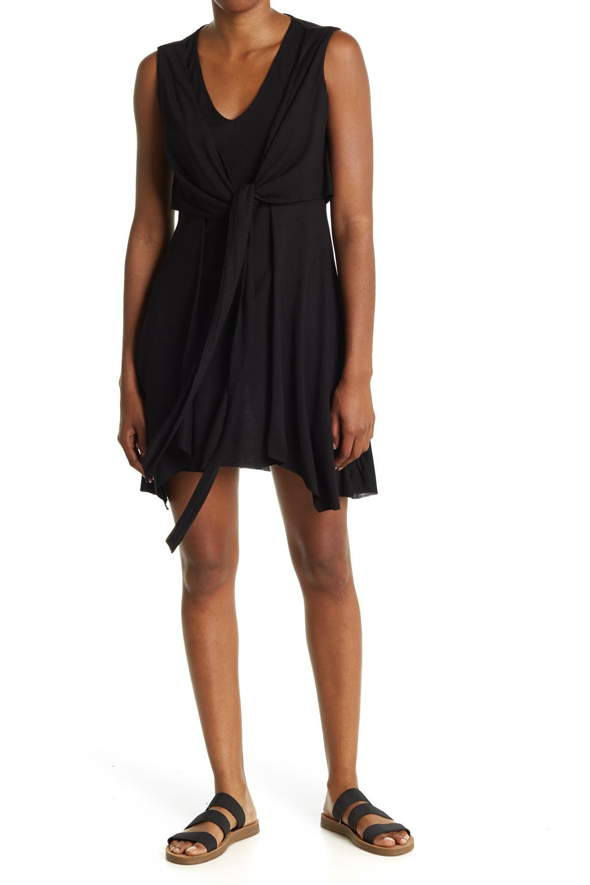 Image of ALLSAINTS Jayda Jersey Tie Waist Dress