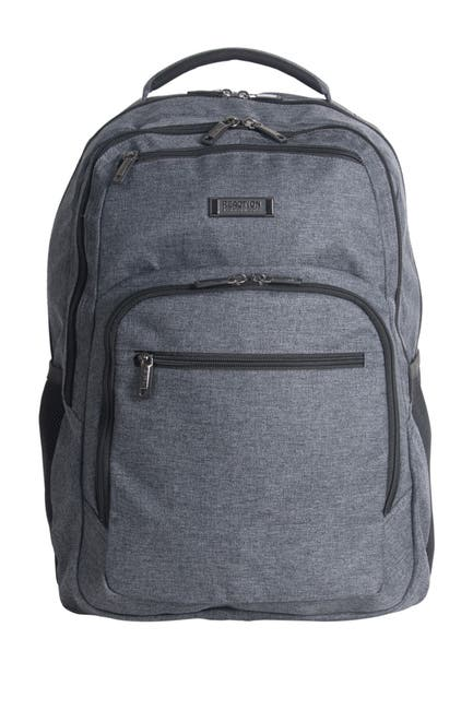 """Image of Kenneth Cole Reaction Heathered Triple Compartment 17.3"""" Computer Business Backpack"""