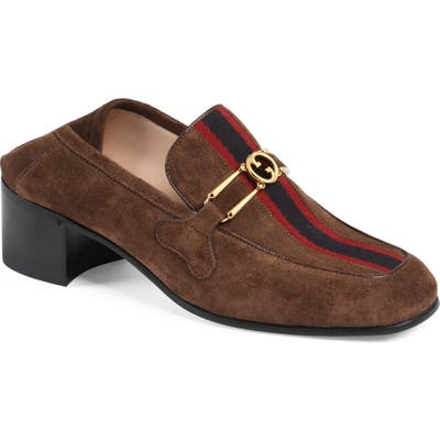 Gucci Lubbock Convertible Loafer Pump, Brown