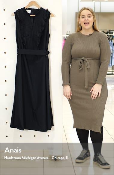 Ruffle Sleeveless Midi Dress, sales video thumbnail
