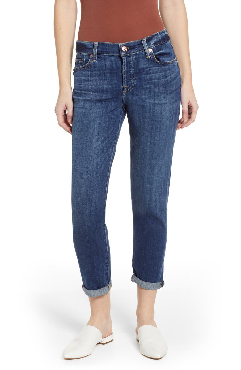 7 FOR ALL MANKIND<SUP>®</SUP> Josefina Ankle Boyfriend Jeans, Main, color, BROKEN TWILL VANITY CLEAN