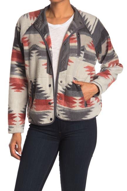 Image of THREAD AND SUPPLY Polar Fleece Geo Print Jacket