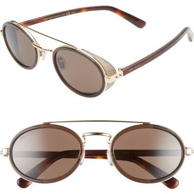 Jimmy Choo Tonies 51Mm Round Sunglasses - Brown Gold/ Brown