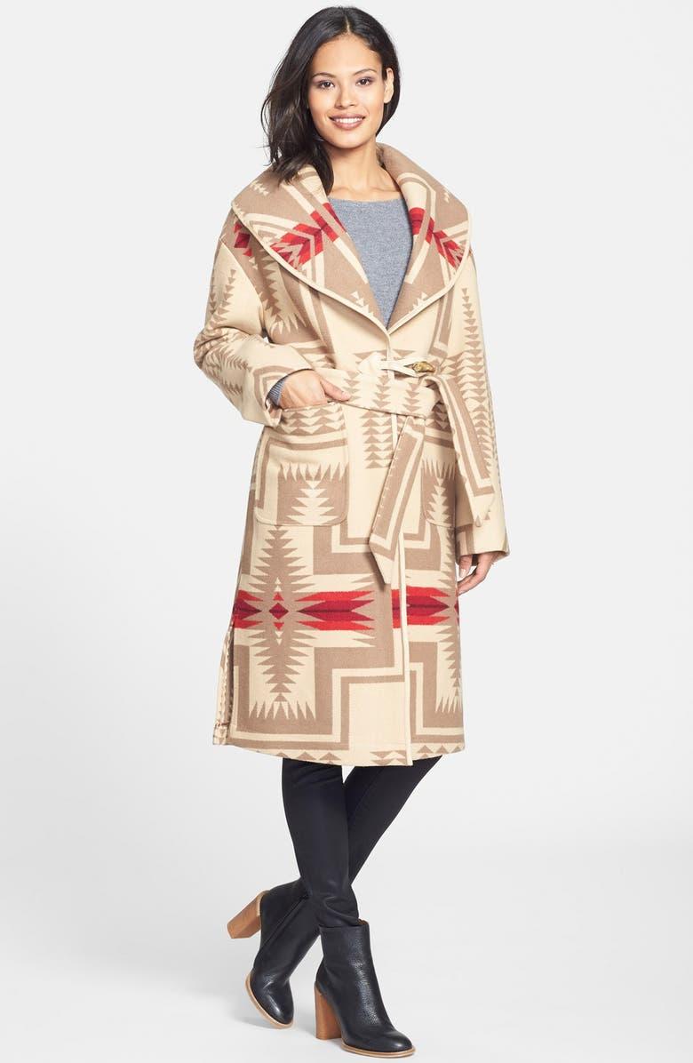 PENDLETON Shawl Collar Wool Blanket Coat, Main, color, 251